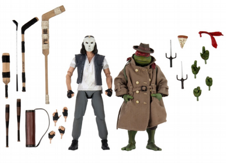NECA TMNT Movie Casey Jones & Raphael in Disguise Action Figure 2Pack (Teenage Mutant Ninja Turtles)